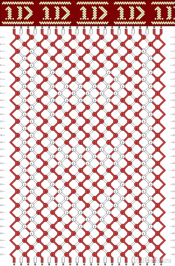 Схема фенечки 10485
