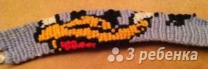 Схема фенечки прямым плетением 10303