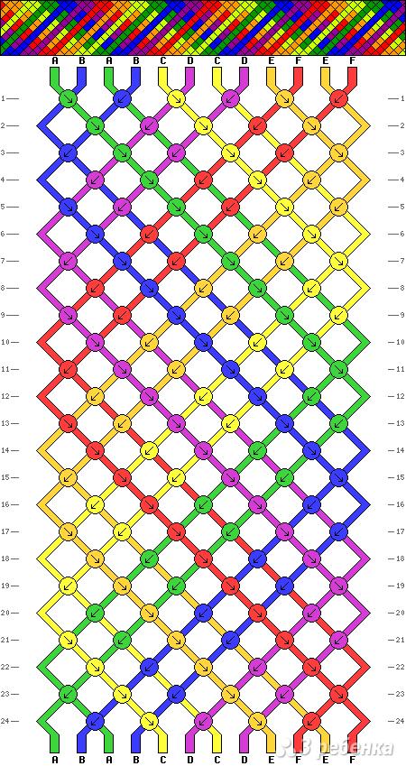 Схема фенечки 9872