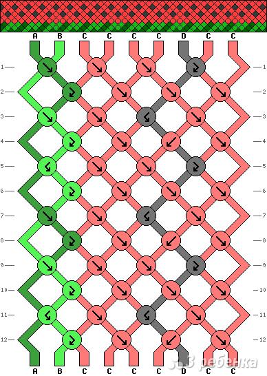 Схема фенечки 10820