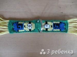 Схема фенечки прямым плетением 10110