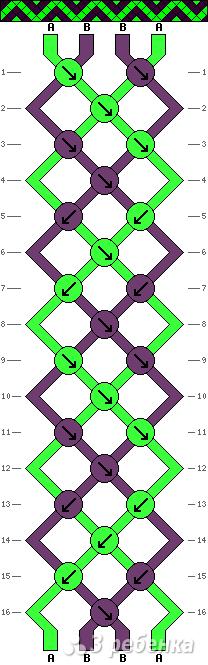 Схема фенечки 10432