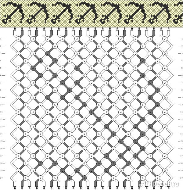 Схема фенечки 9619