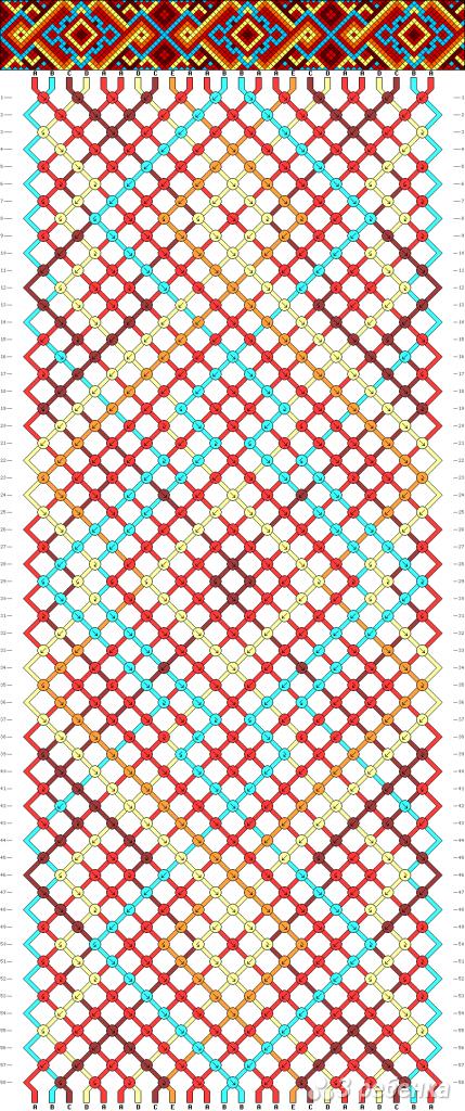 Схема фенечки 9508