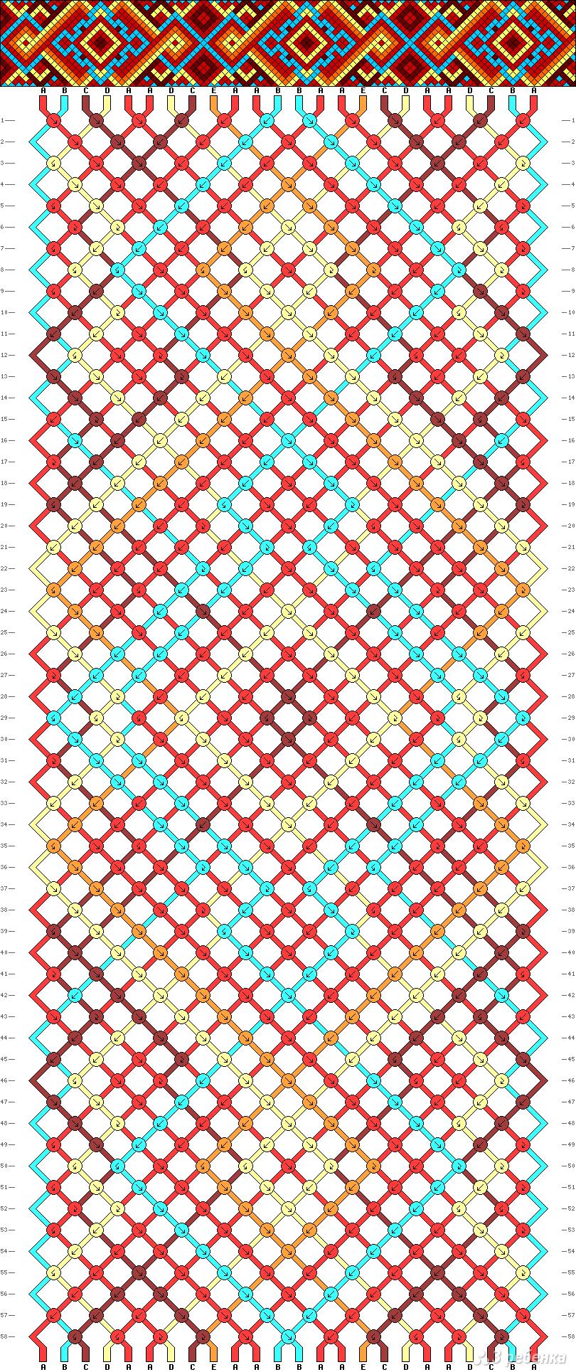 Картинки схема фенечек