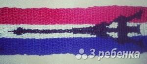 Схема фенечки прямым плетением 10687