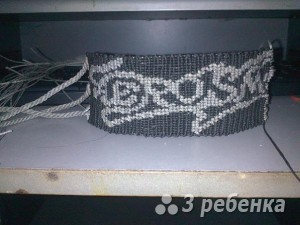 Схема фенечки прямым плетением 11286