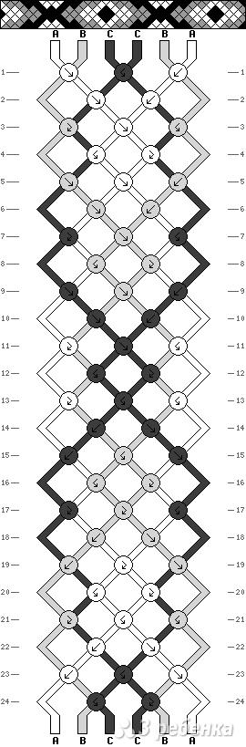 Схема фенечки 10893