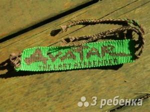 Схема фенечки прямым плетением 11394