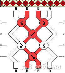 Схема фенечки 9991