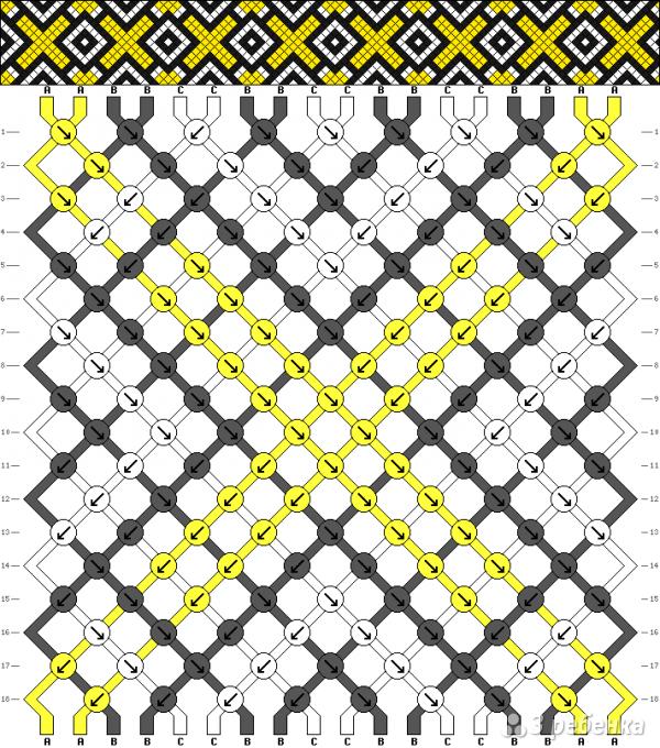Схема фенечки 9953