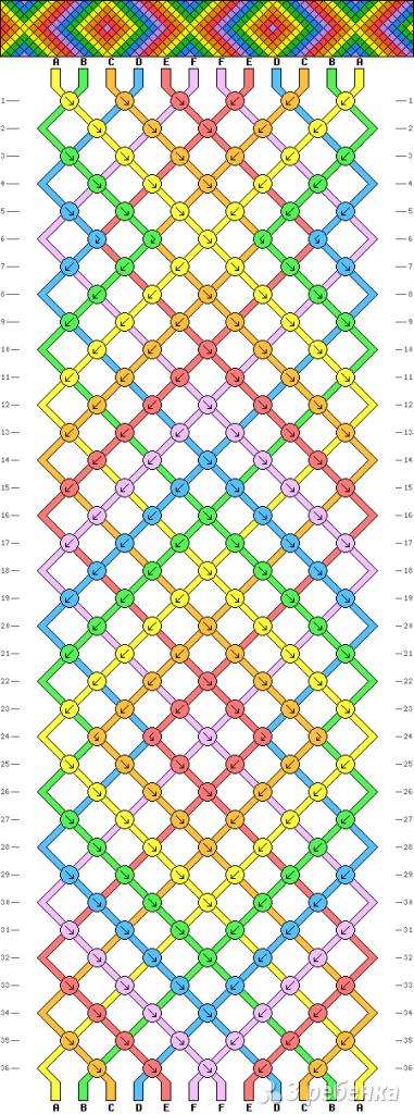 Схема фенечки 9719