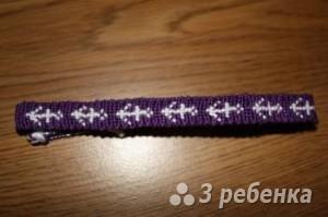 Схема фенечки прямым плетением 10554
