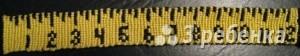 Схема фенечки прямым плетением 11510