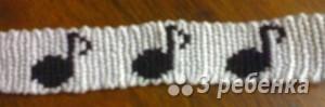 Схема фенечки прямым плетением 10206