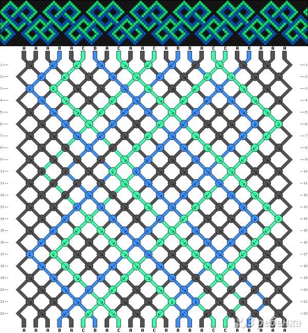 Схема фенечки 9866