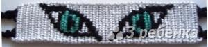 Схема фенечки прямым плетением 11293