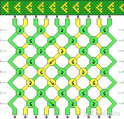 Схема фенечки 11023