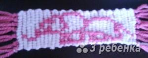 Схема фенечки прямым плетением 10229
