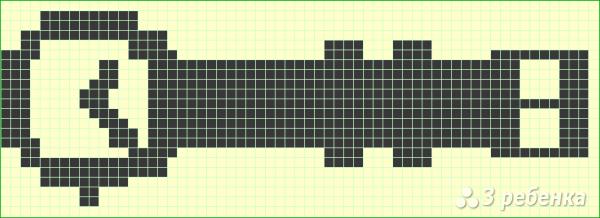 Схема фенечки прямым плетением 10694