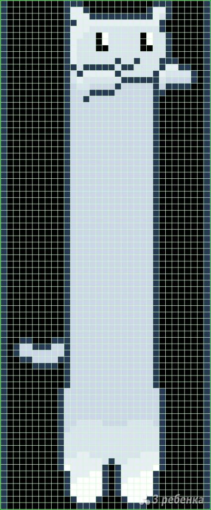 Схема фенечки прямым плетением 10628