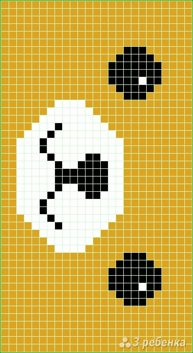 Схема фенечки прямым плетением 10376