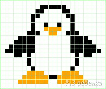 Схема фенечки прямым плетением 11400