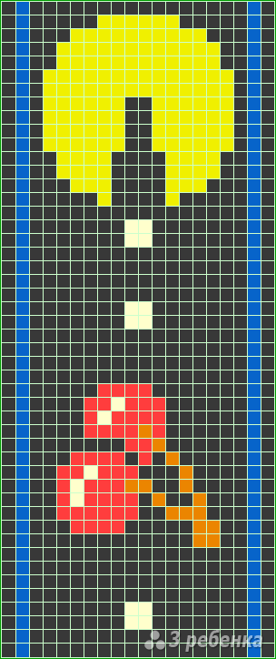 Схема фенечки прямым плетением 10427