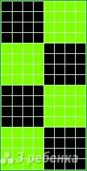 Схема фенечки прямым плетением 10505