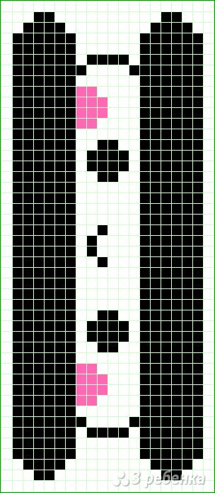 Схема фенечки прямым плетением 10271