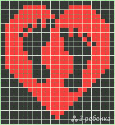 Схема фенечки прямым плетением 10242