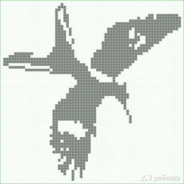 Схема фенечки прямым плетением 10421