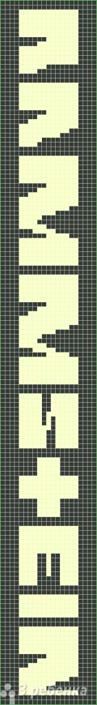 Схема фенечки прямым плетением 11413