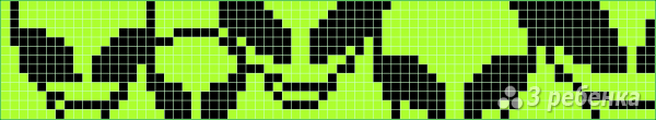 Схема фенечки прямым плетением 10068
