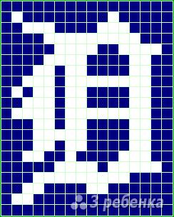 Схема фенечки прямым плетением 11240