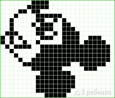 Схема фенечки прямым плетением 11500