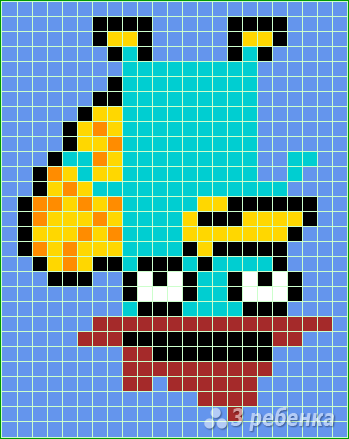 Схема фенечки прямым плетением 11461