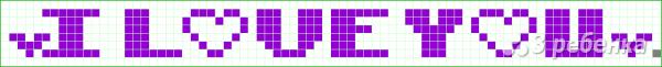 Схема фенечки прямым плетением 10335