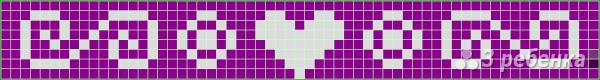 Схема фенечки прямым плетением 11535