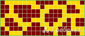 Схема фенечки прямым плетением 10645