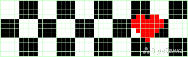 Схема фенечки прямым плетением 10682