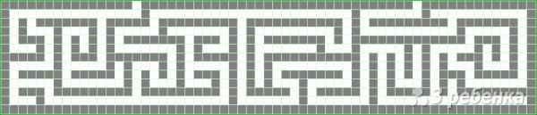 Схема фенечки прямым плетением 10362
