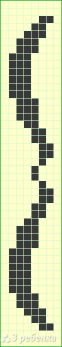 Схема фенечки прямым плетением 10590