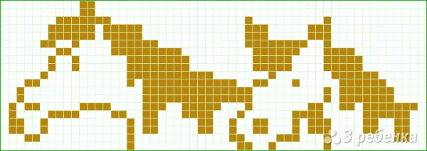 Схема фенечки прямым плетением 10134