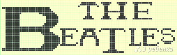 Схема фенечки прямым плетением 10076