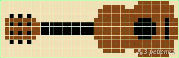 Схема фенечки прямым плетением 10706