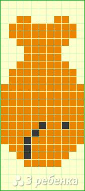 Схема фенечки прямым плетением 11471