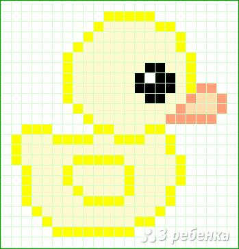Схема фенечки прямым плетением 10318