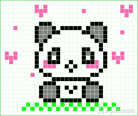 Схема фенечки прямым плетением 11389