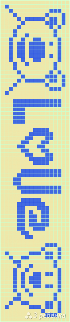 Схема фенечки прямым плетением 10576